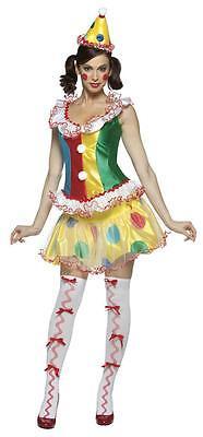 Ruffles the Party Clown Ladies Sassy Adult Costume - Sassy Clown Costume