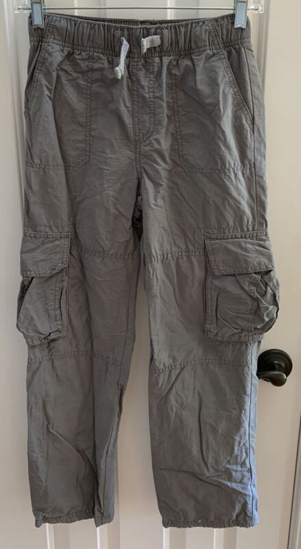 Tucker + Tate Boys Cargo Lined Gray Pants Size M 8/10