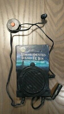 Xtreme Haunted Scary Sound FX Box Halloween Prop - Motion Activated - Tested
