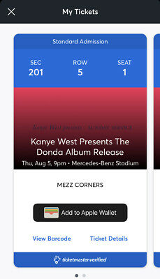 Kanye West Presents The Donda Album Release Aug 5th 8/5 9PM 2 Tickets Available