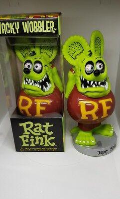 Rat Fink Figur Green/Grün Wacky Wobbler Big Daddy Ed Roth Box Funko