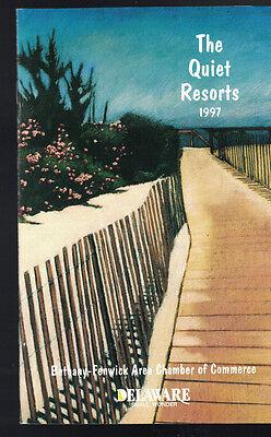 The Quiet Resorts 1997 Delaware Booklet Bethany Fenwick Area