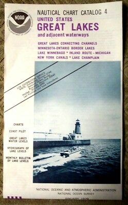 NOAA Nautical Chart Catalog 4 Great Lakes & Adjacent Waterways 1979 Very Gd Cond