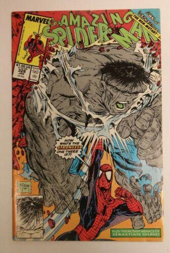 Amazing Spider-Man #328 classic McFarlane cover Marvel The Hulk