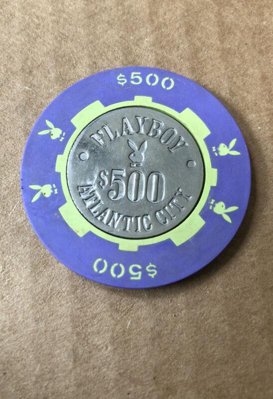 PLAYBOY CLUB $500 CASINO CHIP ATLANTIC CITY NJ 3.99 SHIPPING