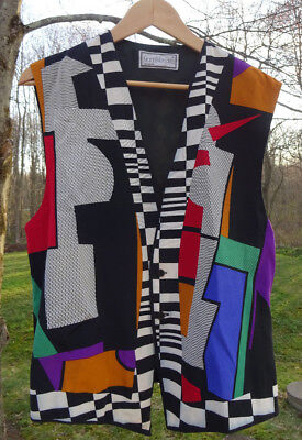 Gianni Versace Mutli-Color Geometric Vest Size 48 Italy