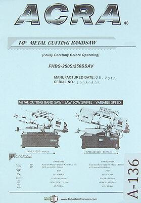 Acra Jih Fong Jf-15 Jf-18 Milling Machine Operation Parts Electric Manual