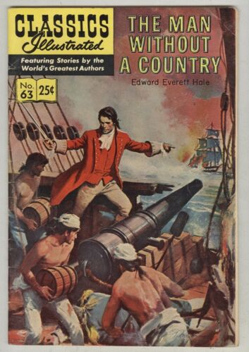 Classics Illustrated #63 VG+ 1969 Man Without a Country