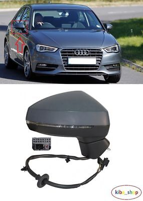 AUDI A3 3DOOR 2008-2010 NEW WING MIRROR ELECTRIC HEATED 8PIN RIGHT O//S LHD