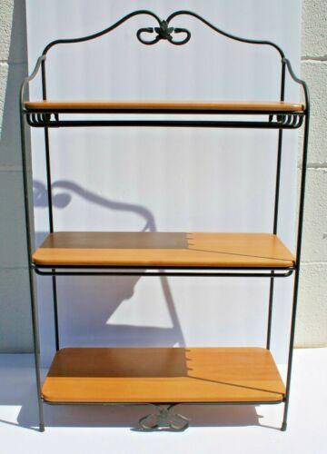 Longaberger Wrought Iron Bread Basket Three Tier Stand+3 Shelves