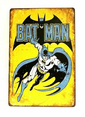Bat Man Comic Book Tin Metal Sign Vintage Style Store Advertising Kids Room Art