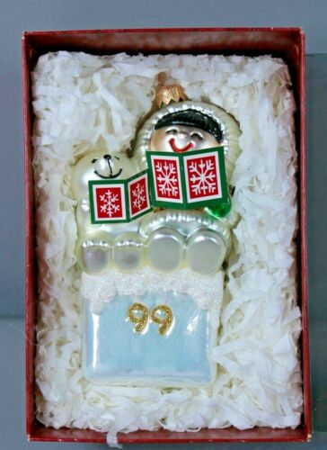 1999 Hallmark Keepsake Ornament Crown Reflections Frosty Friends Blown Glass
