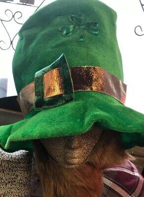 St Patricks Day Green Hat With Beard Leprachaun](Leprachaun Hat)