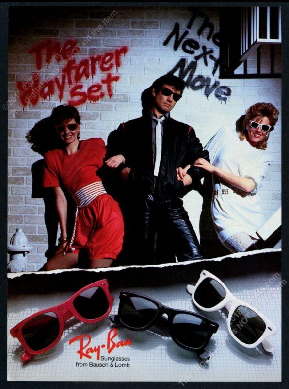 1985 Ray Ban Wayfarer sunglasses very 80s fashion design photo vintage print ad