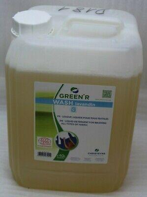 Green'R Wash Flüssigwaschmittel 10L Lavandin pflanzlich für Farben & schwarz NEU - Neue Schwarze Flüssigkeit