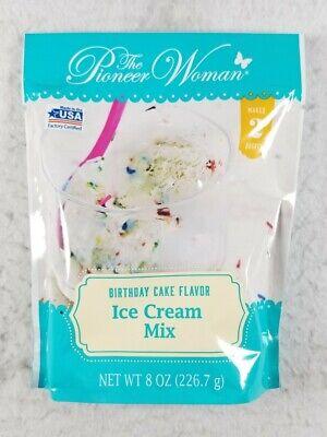 Pioneer Woman Birthday Cake Flavor Ice Cream Mix Makes 2 Quarts 8 oz Exp 09/22