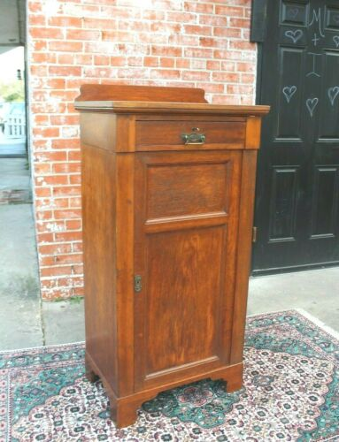 English  Antique Art & Craft One Door & 1 Drawer Small cabinet