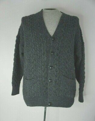 Country Collection Ireland Aran Fisherman Cardigan Sweater XL