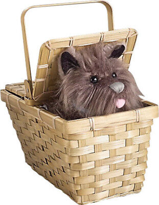 Toto in the Basket Deluxe Wizard of Oz Dorothy Prop Costume Halloween - Wizard Of Oz Toto Costume