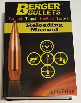 BERGER RELOADING MANUAL 1ST EDITION - BRAND NEW - FREE SHIPPING
