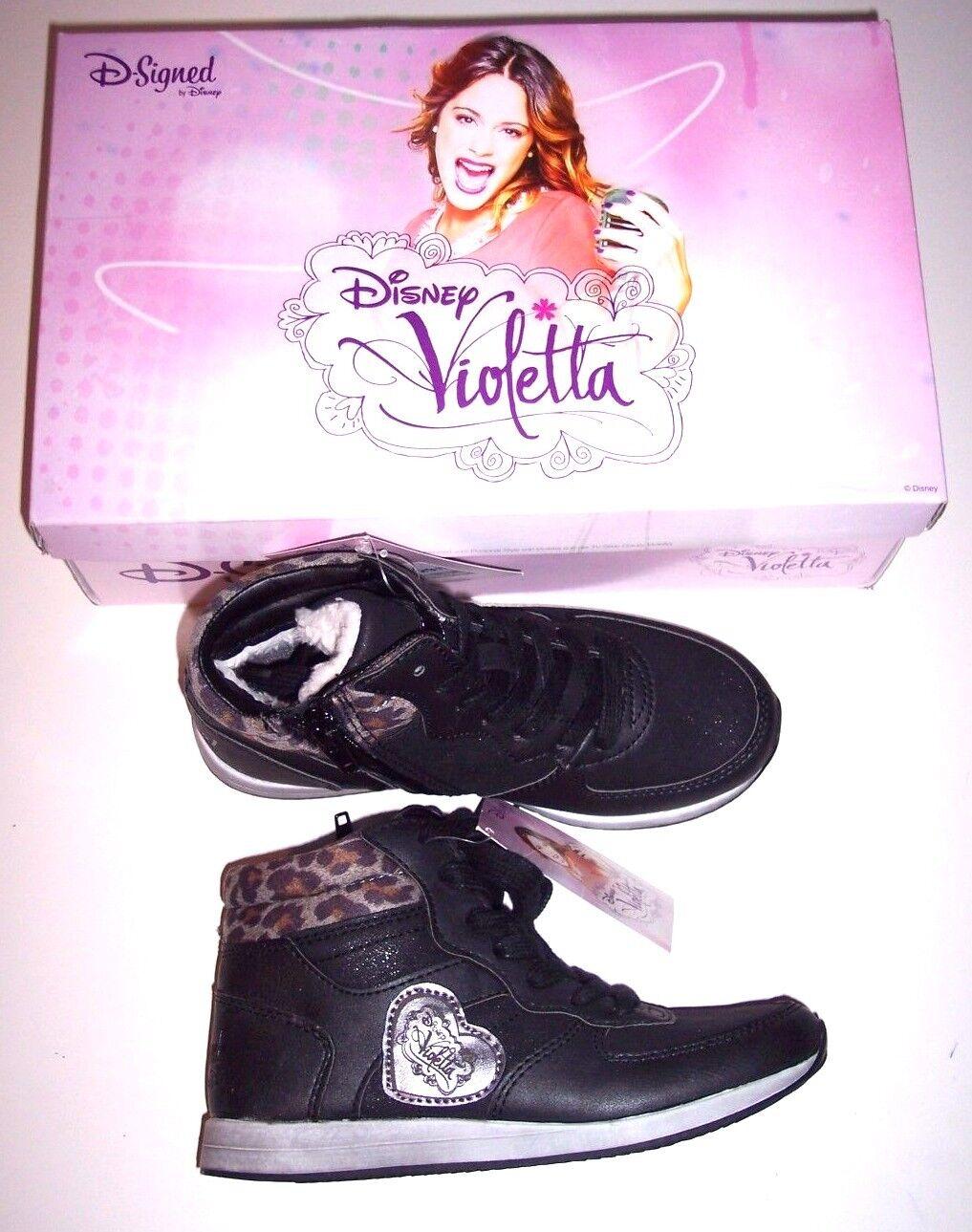 Disney Violetta Kinder Schuhe Knöchelhoch Turnschuhe Gr. 31  gefüttert