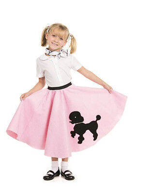 Baby Pink FELT 50s Poodle Skirt Adult or Child Size Waist 20 to 34 Length 19 NWT - Baby Poodle Skirt