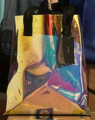 Zara Iridescent Tote Bag MSRP $ 69.90