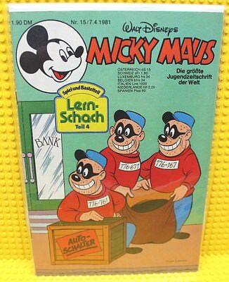 Walt Disney® Micky Maus Nr 15 von 1981 mit Schnipp und Beilage
