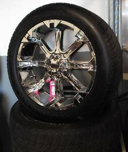 """22"""" Chrome Tuff Alloys and Tyres To Suit Some 4WD's Toowoomba Toowoomba City Preview"""