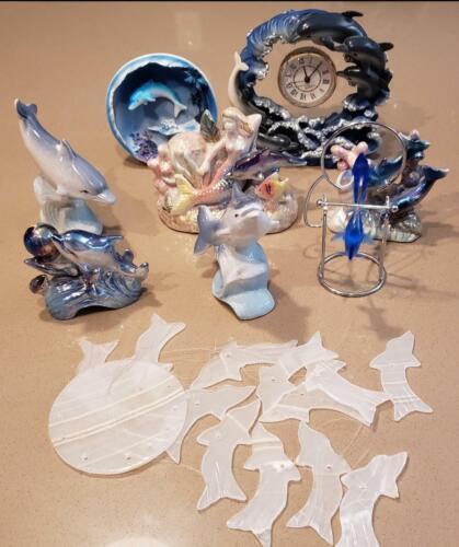 Ceramic Dolphin Figures