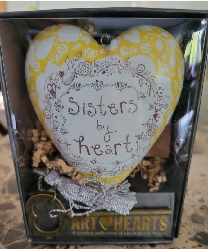 NIB Demdaco Heart Inspired Art Sisters, boxed Gift Loved One, Friend, Family.