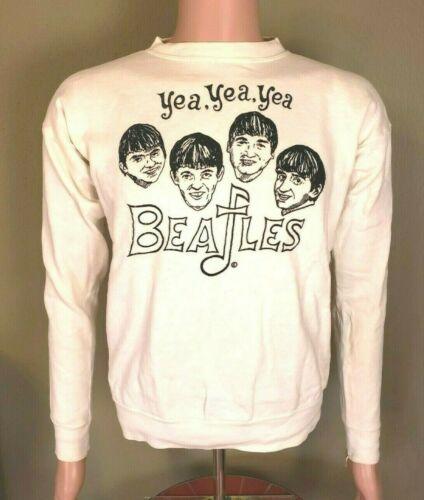*RaRe* Vintage (1960s) THE BEATLES yea yea yea crewneck SWEATSHIRT size L