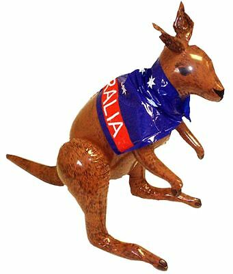 Inflatable Blow Up Aussie Kangaroo 70cm With Australian Flag