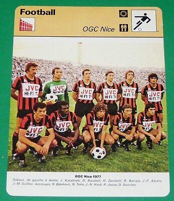 FOOTBALL OGC NICE 1976-1977 OGCN NISSA RAY AIGLONS MAILLOT JVC image