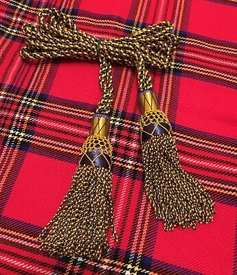 SH Scottish Great Highland Bagpipe Drone Cord Royal Stewart Silk Bagpipes Cords