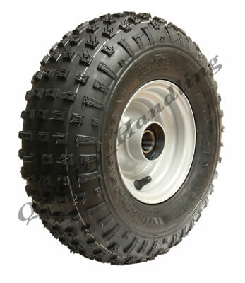 145/70-6 - knobby ATV tyre & rim, Quad trailer wheels with ball bearings 150kg -