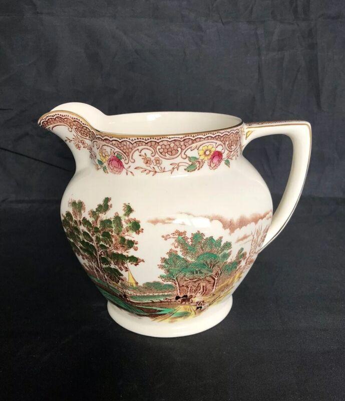 Vintage Barker Bros Royal Tudor Ware Olde England Water Or Milk Pitcher