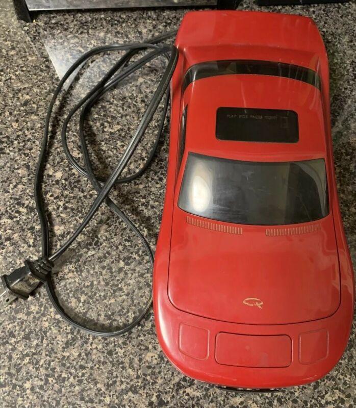 Quantum International VHS Video Cassette Tape Rewinder Red Sports Car Vintage