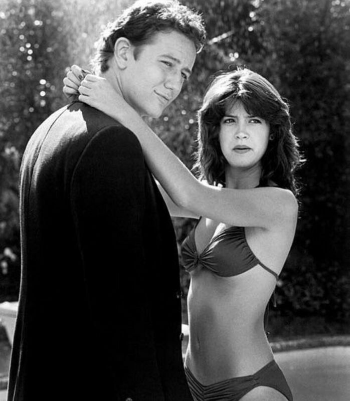 Phoebe Cates - With Her Costar In Fast Times At Ridgemont High !!