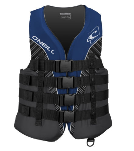 O'Neill  Men's Superlite USCG Life Vest, Pacific/Smoke/Black