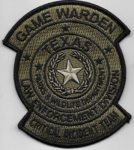 Critical Incident Team Texas Game Warden Police State TX Fish Wildlife