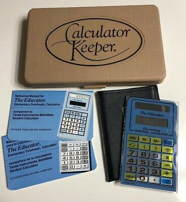 Vintage The Educator Elementary Overhead Projector Calculator Solar Powered