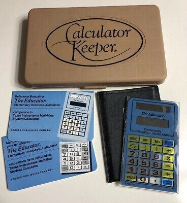 Vintage The Educator Elementary Overhead Projector Calculator Solar Powered