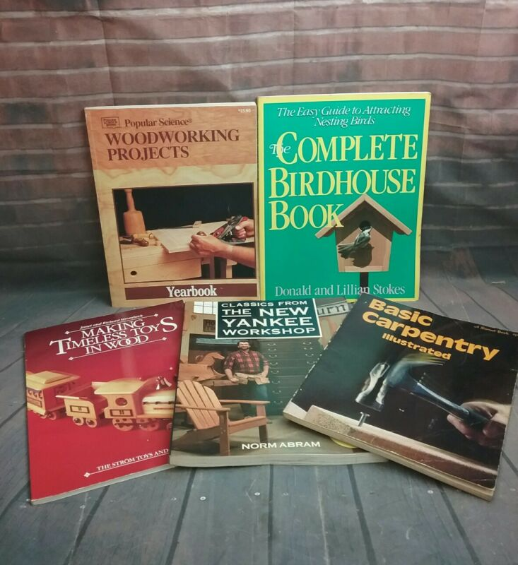 5 Woodworking Project books