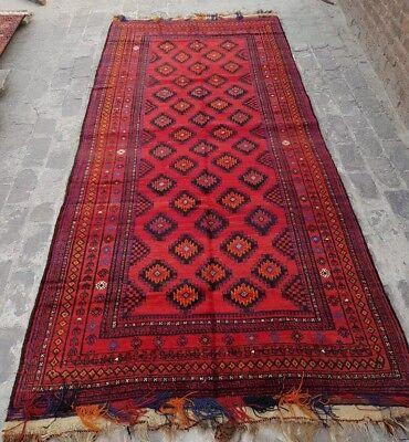 Size:1.6 x 2.6 feet Vintage Afghan Tribal Nomadic  Carpet Cushion Cover