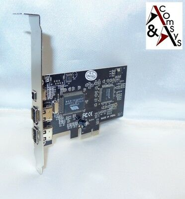 PCI-E Firewire Karte 2+1 3-Port PCI Express Controller Fire Wire 1394 FiWi +Kabl