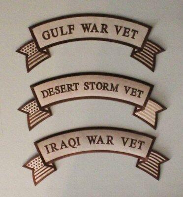 Iron Rocker - Large Vet Iron On Rocker Patch - Gulf Iraqi Desert Storm War Biker Veteran 008