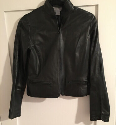 Fitted Leather Jacket Size:0 - 100% Leather Eccoci