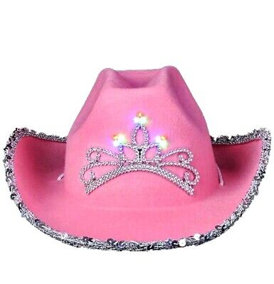 Rhode Island Pink Cowboy Hat Girls Light Up Bling  Cowgirl Western