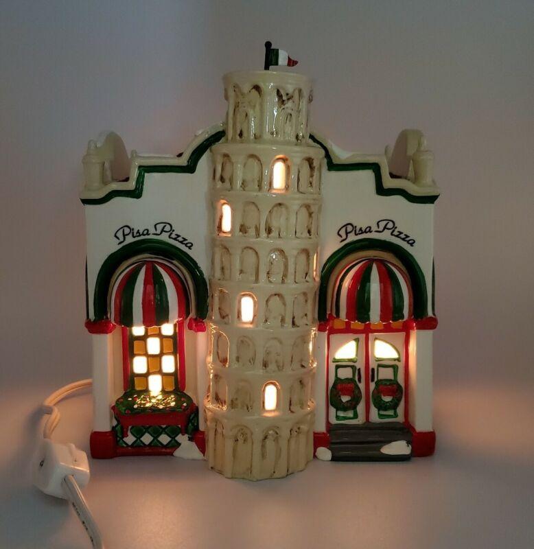 Dept 56 - Snow Village - Pisa Pizza - Building with Light - #5485-1 (Retired)